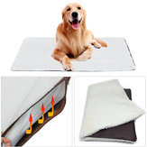 Large Self Heating Dog Bed Fleece Mat Soft Warm Pet Cat Rug Thermal Washable Pad