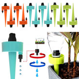 6Pcs/12Pcs Self Automatic Watering Device Water Sprayer Flow Dripper Spikes With Adjustable Control Valve Drip Irrigation Kit Fit On All Bottles
