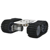D-39 DIY Inteligente Aluminous RC Robot Car Tank Chassis Base Com DC 12V 1:46 Motor