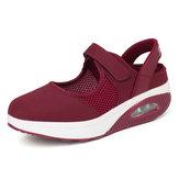 Sneakers casual con plateau leggero da donna