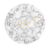 Loskii CC014 Creative Marble Pattern Wall Clock Mute Wall Clock Quartz Wall Clock For Home Office Decorations