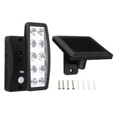 10 LED Solar Power PIR Motion Sensor Wall Light Outdoor Garden 3 Mode Flood Light