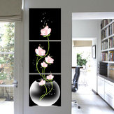 3Pcs Modern Abstract Flower Art Canvas Print Paintings Picture Home Wall Decor