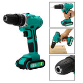 68FV Household Lithium Electric Screwdriver 2 Speed Impact Power Drills Rechargeable Drill Driver W/ 2 Li-ion Batteries
