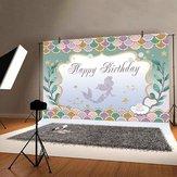 La nostra sirenetta Dolce festa di compleanno Decorazioni per fondali Sfondo Puntelli per fotografia per bambini