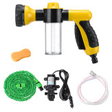 12V Portable High Pressure Electric Car Wash Washer Water Pump Sprayer Kit Foam Water Cleaning Kit