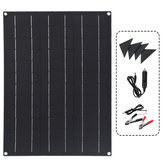 40W Solar Panel Matte Texture Car Emergency Charger WIth 4 Protective Corners Dual USB+DC