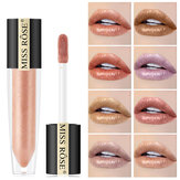 Miss Rose Shimmer Lip Gloss Metallico perlato bastone Impermeabile a lunga tenuta Gloss Gloss Cosmetici di bellezza Make Up Lip Trucco