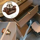 Botão de gaveta armário porta trava de bloqueio caravana motorhome gabinete botão marrom