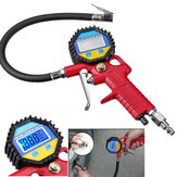 0-150psi LCD Digital Portable Tire Inflator Pressure Gauge Tester Air Chuck Hose