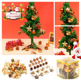 24PCS Gold Glitter Balls Christmas Baubles XMAS Tree Hanging Ornament Decorations