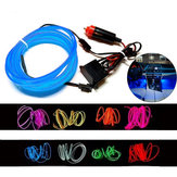 1M Flexible Neon EL Wire Light Atmosphere Car Strips Lamp Interior Decoration Strips Lighting + DC12V Driver