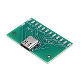 Placa de teste fêmea TYPE-C USB 3.1 com adaptador PCB 24P fêmea Conector para medição de condução de corrente