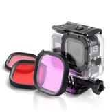 Filtro de lente de mergulho vermelho / Rosa / roxo para GoPro hero 8 câmera de ação fpv compatível original à prova d 'água Caso