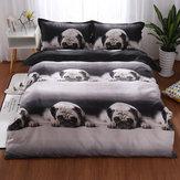3D Animal Print Bedclothes Bedding Sets Quilt Duvet Cover Pillowcase Decor