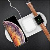 3-in-1 Qiワイヤレス充電器スマートフォンApple WatchシリーズApple AirPods用の高速充電フォンチャガー