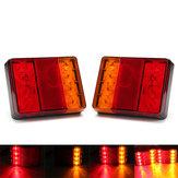 12 V 8 LED Auto Lkw LED Heckbremse Lichter Warnung Blinker Lampe Rot + Gelb 2 STÜCKE für LKW Anhänger Wohnwagen