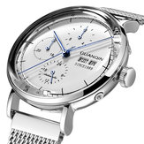 GUANQIN 16116 Full Steel Calendar Automatic Mechanical Watch