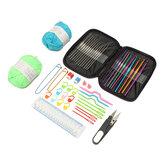 31PCS / SETかぎ針編みフック編みニットキットゲージスチールフック付き糸針ピンツールキット