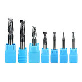 7pcs 2-12mm Solid Carbide Milling Cutter 2 Flute Slot Drills 2/3/4/6/8/10/12mm Milling Cutter CNC Tool