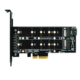 ITHOO PCENGFF-N05 PCI-E 4X to M.2 Key M+B Interface NVME M.2 SSD PCI-E Expansion Card 10Gbps for Desktop Computer