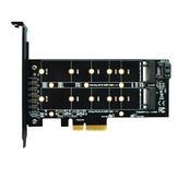 ITHOO PCENGFF-N05 PCI-E 4X auf M.2-Schlüssel M + B-Schnittstelle NVME M.2 SSD PCI-E-Erweiterungskarte 10 Gbit / s für Desktop-Computer