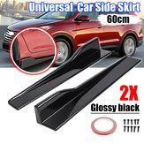 2 X Universal Car Gonna laterale nera lucida Divisori bilancieri Canard Diffusore Winglet Wing