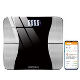 SONGYING bluetooth Smart Body Fat Scale USB Dobíjecí APP Data LED Displej Fitness Yoga Nástroje Měřítko