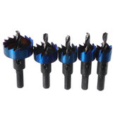 5pcs 16-30mm HSS Blue Nano Coating Tooth Hole Saw Cutter Drill Bit Set for Metal Sheet