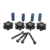 4Pcs M5 Heated Bed Leveling Screw + M5 Nuts +  8*25mm Blue Spring for 3D Printer Part Hotbed