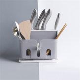 Çok fonksiyonlu Mutfak Masaüstü Depolama Raf Raf Plastik Kesici Çubuklarını Tahliye Raf Çubuklarını Sofra Raf Düzenleyici