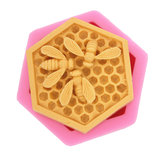 Honeycomb Bee Silicone Mold Bakeware Family DIY Fondant Chocolate Cake Mould