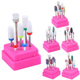 7pcs Nail Drill Container Box Rectification Supprimer UV Gel Auroras Nail Art Outils De Conception Ensemble