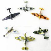 6PCS 1:48 British Spray Interceptor Fighter Painting Version DIY Assembled Aircraft Model Building Educational Toys