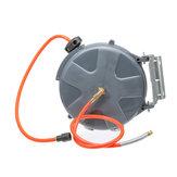 Riavvolgimento automatico 10M (33FT) 260PSI Rotazione avvolgitubo aria Montaggio a parete Compressore d'aria Avvolgitubo Riavvolgimento automatico Strumento di estensione del garage