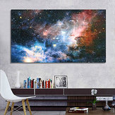 Unframed 43x24 inch Space Galaxy Universe Planet Poster Stof Zijden schilderijen Wall Print Art Home Decor