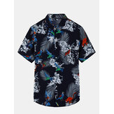 Hawaii Floral Big Plus Size Leisure Holiday Beach Shirts for