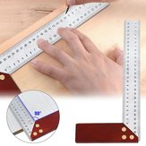 90 Degree Square Feet Mahogany Handle Thickened Stainless Steel Square Ruler Protractor 300MM Tool Accessories