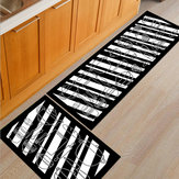 2Pcs Kitchen Floor Carpet Non-Slip Area Rug Bathroom Door Floor Mat Set