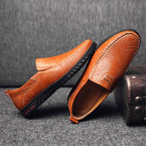 Slip Resistant Casual Business Walking Leather Flats