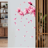 Miico FX64039 Peach Flower Home Dekorative Sticker Wandaufkleber DIY Sticker