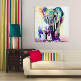 Ręcznie malowane obrazy olejne Miico Obrazy słoni zwierząt Wall Art do dekoracji wnętrz