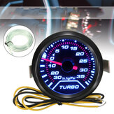 Universele 52 mm 2 ″ LED Turbo Boost-drukmeter Gerookte wijzerplaten Gezicht Psi