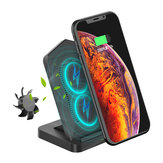 Desktop Type-C Double Coils 10W Wireless Charger with Cooling Fan for Qi-enabled Smart Phone for iPhone 11 for Samsung Galaxy Note 10