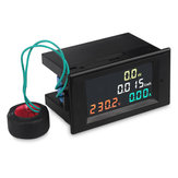 D69-2049 4 in 1 AC Voltmeter Amperemeter Power Energy Meter AC 80.0-300.0V / AC 200.0-450.0 V 0.01-100A HD Farbbildschirm 180 Grad LED