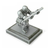 Silver Executive Knight Pen Holder Action Figure Armor Hero Pen Holder Table Decoration Toy