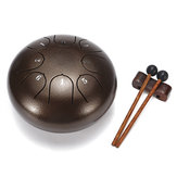 6 Inch 8 Notes G Tune Steel Tongue Drum Handpan Instrument with Drum Mallets and Bag
