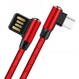 Bakeey 3A Micro USB Dual Elbow 90 Degree Fast Charging Data Cable For HUAWEI P30 Oneplus 7 Pocophone F1 MI9 S10 S10+