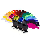 20 in 1 Universal Color Gels filterkaartpapier voor fotografie Speedlite Flash LED-videolamp
