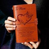 Aan mijn moeder eather Journal Notebook dagboek aangepaste citaten Gift verjaardag verjaardag afstuderen